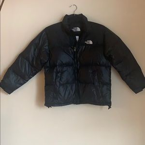 The North Face Kids puffer jacket black